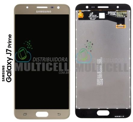 GABINETE FRONTAL MODULO COMPLETO LCD DISPLAY TOUCH SCREEN SAMSUNG G610 GALAXY J7 PRIME DOURADO GOLD ORIGINAL