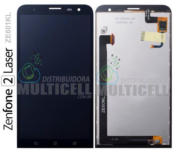 GABINETE FRONTAL DISPLAY LCD TOUCH SCREEN MODULO COMPLETO ASUS ZE601KL Z011D ZENFONE 2 LASER PRETO ORIGINAL
