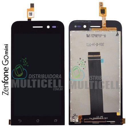 GABINETE FRONTAL MODULO COMPLETO DISPLAY LCD TOUCH SCREEN ASUS ZB452KG ZENFONE GO MINI PRETO ORIGINAL