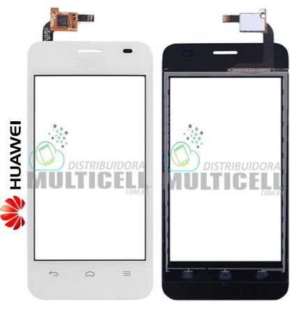 TELA VIDRO TOUCH SCREEN HUAWEI ASCEND Y321 BRANCO ORIGINAL