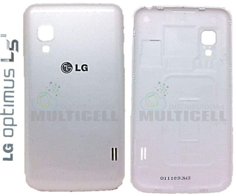 TAMPA TRASEIRA DA BATERIA LG E455 L5 II BRANCA ORIGINAL