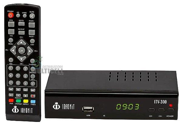 CONVERSOR DIGITAL PARA TV COM LED INFOKIT MODELO ITV-300 PRETO