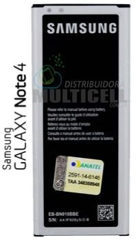 BATERIA SAMSUNG N910 GALAXY NOTE 4 EB-BN910BBE (COM CHIP TURBO)