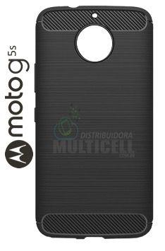 CAPA CASE DE SILICONE TPU TOP BLACK MOTOROLA XT1792 MOTO G5S G5 S PRETA ESCOVADA