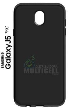 CAPA CASE DE SILICONE TPU TOP BLACK SAMSUNG J530 GALAXY J5 PRO PRETA ESCOVADA