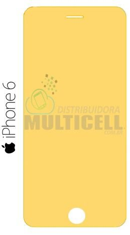 PELÍCULA DE GEL ANTI-IMPACTO APPLE IPHONE 6 6S  (COBRE TODA A TELA)