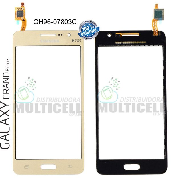 TELA VIDRO TOUCH SCREEN SAMSUNG G530 G530BT G530H GALAXY GRAND PRIME DOURADO 100% ORIGINAL
