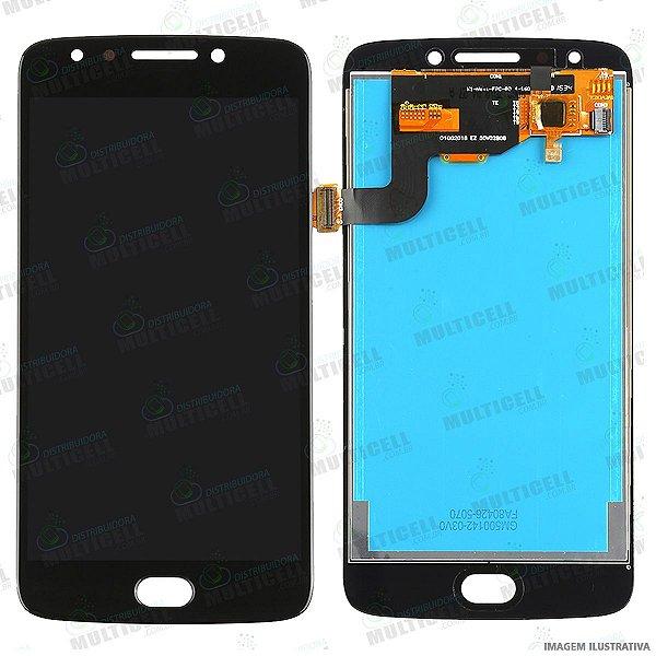 GABINETE FRONTAL LCD DISPLAY MODULO COMPLETO MOTOROLA XT1766 XT1762 XT1763 MOTO E4 PRETO 1ªLINHA QUALIDADE AAA