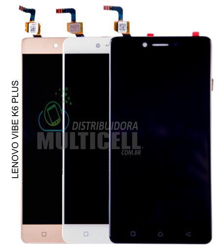 GABINETE FRONTAL LCD DISPLAY TOUCH SCREEN MODULO COMPLETO K53B36 LENOVO VIBE K6 PLUS 1ªLINHA QUALIDADE AAA
