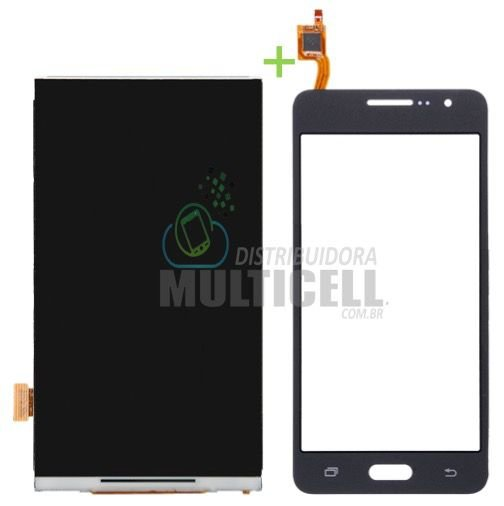 KIT COMBO DISPLAY LCD + TELA TOUCH SCREEN SAMSUNG G530 G531 PRETO CINZA 1ªLINHA AAA