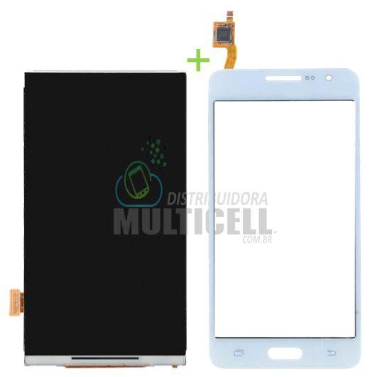 KIT COMBO DISPLAY LCD + TELA TOUCH SCREEN SAMSUNG G530 G531 BRANCO 1ªLINHA AAA