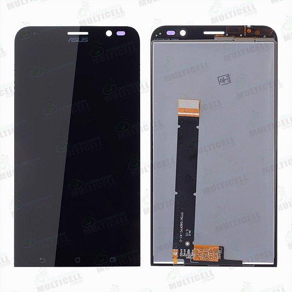 GABINETE FRONTAL DISPLAY LCD MODULO COMPLETO ASUS ZB551KL ZENFONE GO LIVE PRETO 1ªLINHA QUALIDADE  AAA