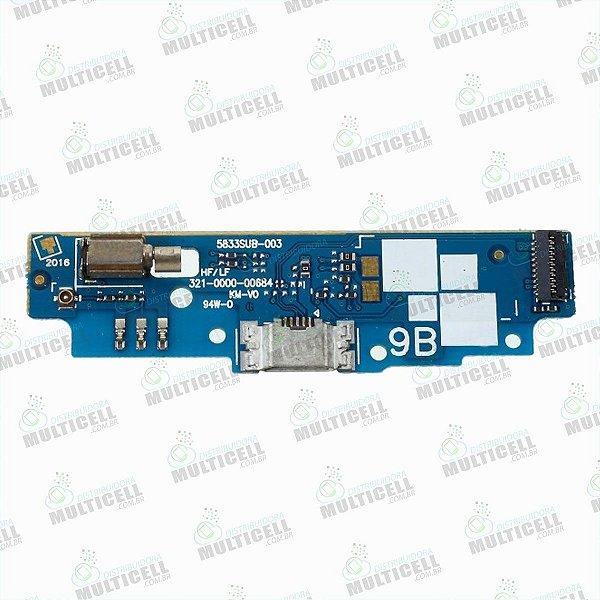 FLEX PLACA DOCK CONECTOR USB DE CARGA MICROFONE ASUS ZB452KL ZENFONE GO MINI ORIGINAL