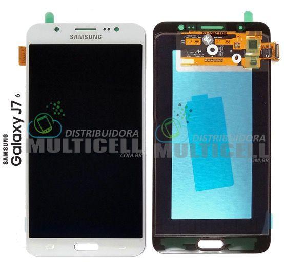 GABINETE FRONTAL LCD DISPLAY TOUCH SCREEN MODULO COMPLETO SAMSUNG j710 j7 METAL 2016 BRANCO (ORIGINAL NACIONAL)