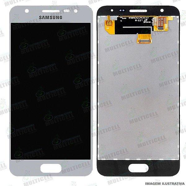 GABINETE FRONTAL DISPLAY LCD MODULO COMPLETO SAMSUNG G570 GALAXY J5 PRIME BRANCO 1ªLINHA (QUALIDADE AAA)