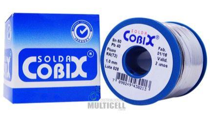 ROLO ESTANHO DE SOLDA COM FLUXO COBIX RA (T2) 250g 1mm