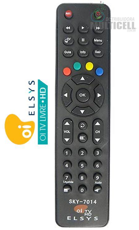 CONTROLE REMOTO CR-3048 RECEPTOR DIGITAL OI TV HD ELSYS SKY-7014 1ª LINHA