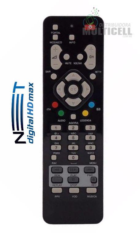 CONTROLE REMOTO NET DIGITAL HD MAX LE-7209 1ª LINHA