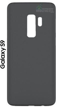CAPA CASE DE SILICONE TPU TOP BLACK SAMSUNG G960 G9600 GALAXY S9 PRETA ESCOVADA