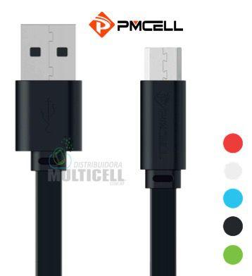 CABO USB FLAT PMCELL SOLID-988 988 ENTRADA MICRO USB V8 1MT CORES VARIADAS
