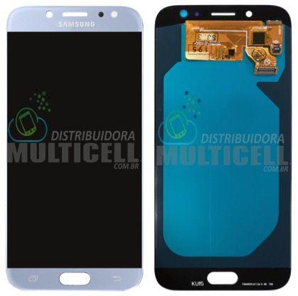 GABINETE FRONTAL DISPLAY LCD MODULO COMPLETO SAMSUNG J730 GALAXY J7 PRO AZUL (ORIGINAL IMPORTADA OLED )