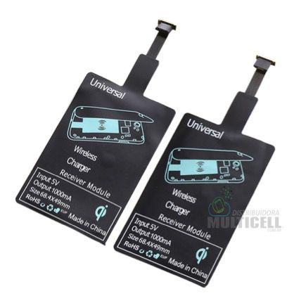 FLEX RECEPTOR QI CARREGAMENTO SEM FIO WIRELLES CHARGER RECEIVER MICRO USB V8 RC1 RC2 APPLE IPHONE
