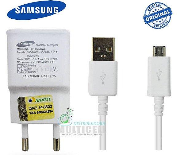 CARREGADOR SAMSUNG USB V8 5V 2A BRANCO ORIGINAL