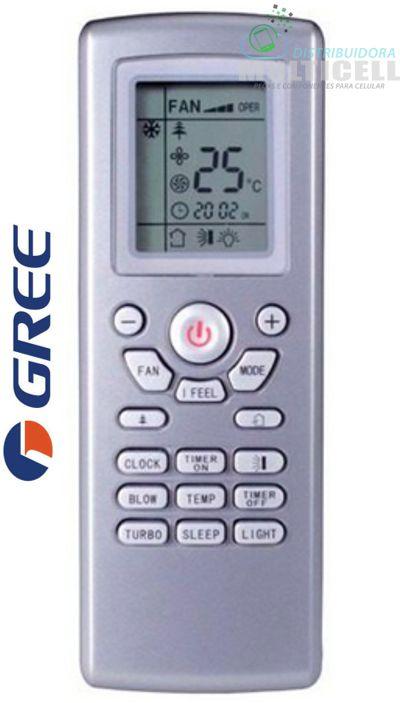 CONTROLE PARA AR CONDICIONADO GREE SPLIT FBG-9050 1ª LINHA