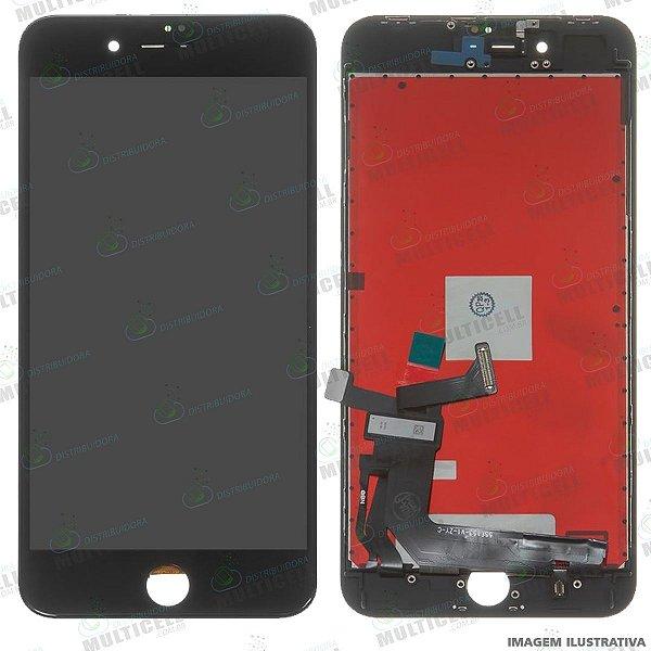 GABINETE FRONTAL DISPLAY LCD MODULO COMPLETO APPLE A1864 IPHONE 8 PLUS PRETO 1ª LINHA (QUALIDADE AAA)