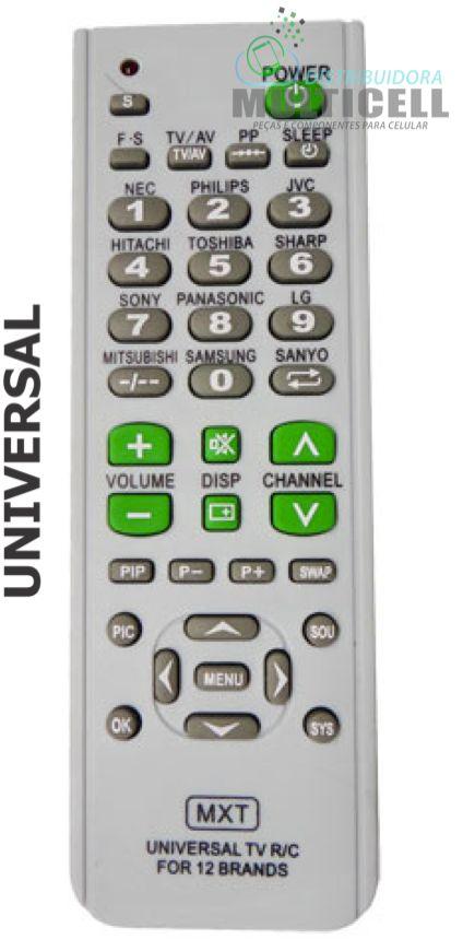 CONTROLE REMOTO UNIVERSAL PARA TV SKY-7614 1ª LINHA