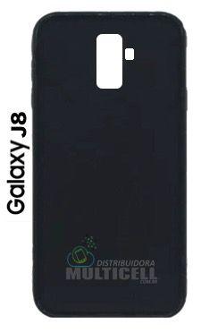CAPA CASE DE SILICONE TPU TOP BLACK SAMSUNG J810 GALAXY J8 PRETA ESCOVADA