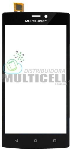 TELA TOUCH SCREEN MULTILASER P9005 P9006 MS60 MS-60 1ªLINHA QUALIDADE AAA
