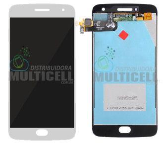 GABINETE FRONTAL MODULO COMPLETO DISPLAY LCD TOUCH SCREEN MOTOROLA XT1685 XT1687 MOTO G5 PLUS BRANCO ORIGINAL