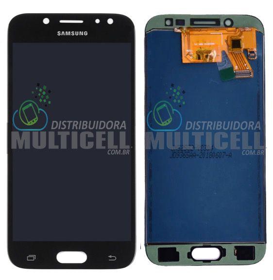 GABINETE FRONTAL DISPLAY LCD SCRENN MODULO COMPLETO SAMSUNG J530 GALAXY J5 PRO PRETO 1ª LINHA (COM BRILHO AJUSTAVEL)