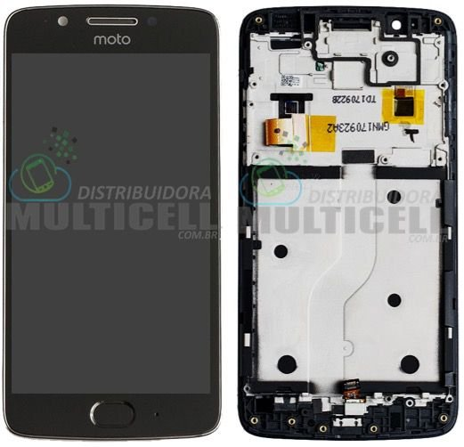 GABINETE FRONTAL MODULO COMPLETO DISPLAY LCD TOUCH SCREEN MOTOROLA XT1670 XT1671 XT1672 XT1676 MOTO G5 PRETO 100% ORIGINAL