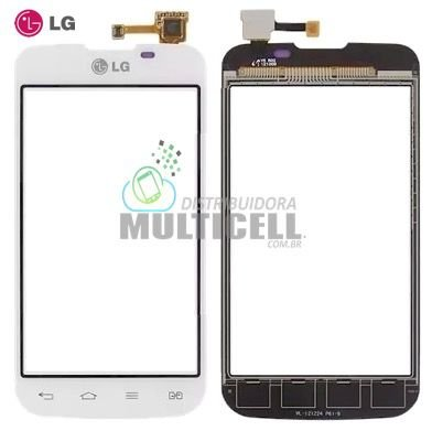 TELA TOUCH SCREEN LG E455 L5 II BRANCO 100% ORIGINAL