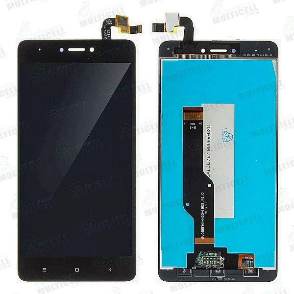 GABINETE FRONTAL DISPLAY LCD MODULO COMPLETO XIAOMI REDMI NOTE 4X  PRETO 1ªLINHA QUALIDADE AAA