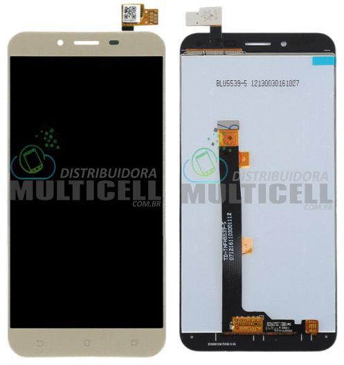 GABINETE FRONTAL TELA LCD MODULO COMPLETO ASUS ZC553KL ZENFONE 3 MAX DOURADO 1ªLINHA AAA QUALIDADE GOLD