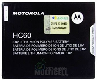BATERIA MOTOROLA HC60 HC 60 HC-60 XT1721 XT1723 XT1726 MOTO C PLUS 100% ORIGINAL