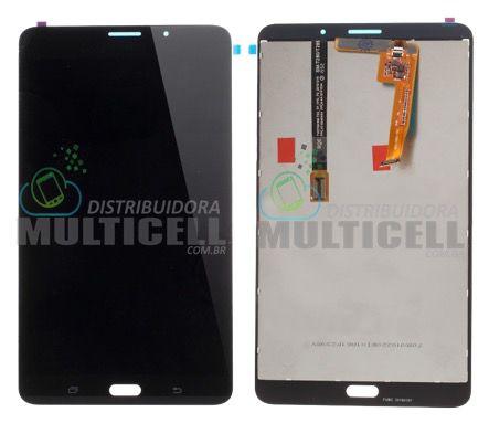 GABINETE FRONTAL DISPLAY LCD TOUCH SCREEN MODULO COMPLETO SAMSUNG T285 GALAXY TAB A PRETO 1ªLINHA  QUALIDADE AAA