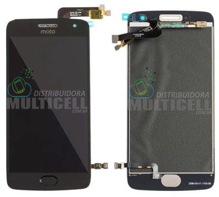 GABINETE FRONTAL MODULO COMPLETO DISPLAY LCD TOUCH SCREEN MOTOROLA XT1683 XT1685 XT1687  MOTO G5 PLUS PRETO 100% ORIGINAL