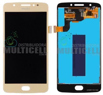 GABINETE FRONTAL LCD DISPLAY MODULO COMPLETO MOTOROLA XT1766 XT1762 XT1763 MOTO E4 DOURADO (ORIGINAL IMPORTADO)