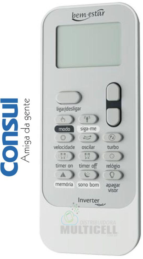 CONTROLE DE AR CONDICIONADO CONSUL INVERTER BEM ESTAR  FBG-8062 9 A 22 MIL BTUS