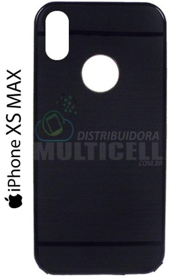 CAPA CASE DE SILICONE TPU TOP BLACK APPLE A1921 A2101 A2102  A2104 IPHONE XS MAX PRETA ESCOVADA