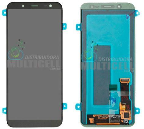 GABINETE FRONTAL LCD TOUCH SCREEN MODULO COMPLETO SAMSUNG J600 GALAXY J6 PRETO 100% ORIGINAL NACIONAL