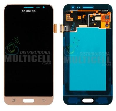 GABINETE FRONTAL LCD DISPLAY TOUCH SCREEN MODULO COMPLETO SAMSUNG J320 GALAXY J3 DOURADO (100% ORIGINAL NACIONAL)