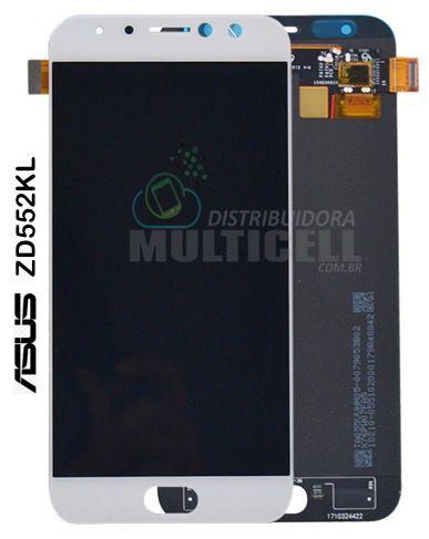 GABINETE FRONTAL DISPLAY LCD TOUCH SCREEN ASUS ZD552KL ZENFONE 4 SELFIE PRO BRANCO 1ªLINHA QUALIDADE AAA