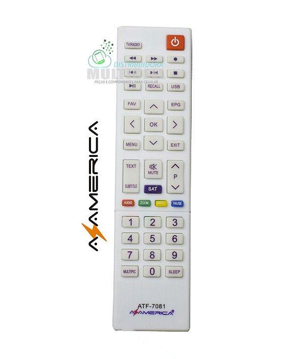 CONTROLE AZAMERICA S1008HD S1009 PLUS RECEPTOR DIGITAL CRS-7081 1ªLINHA