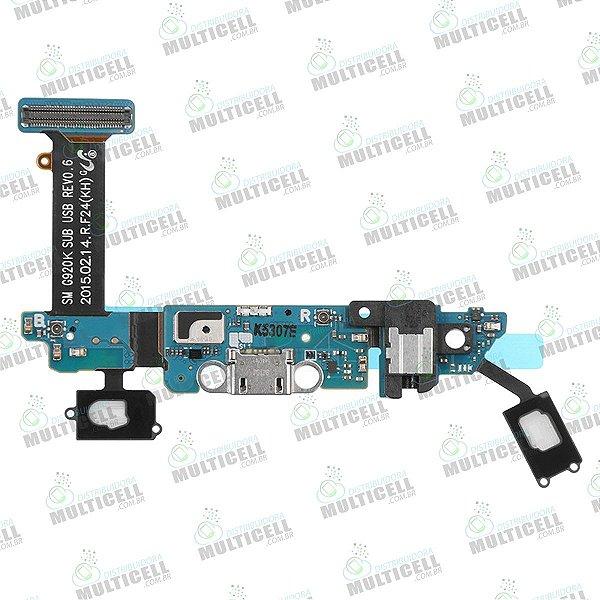 FLEX CONECTOR DE CARGA MICROFONE SENSOR TEC SAMSUNG G920K S6 EDGE ORIGINAL