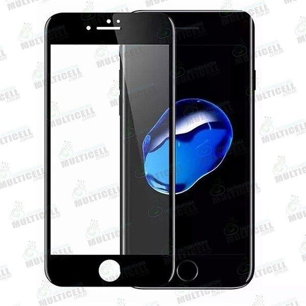 PELÍCULA DE VIDRO 3D 5D 6D APPLE IPHONE 6 IPHONE 6S PRETA